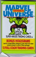1991 Marvel Universe Series 2 Unopened 12 card Pack