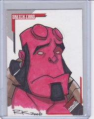 2006 Inkworks Hellboy Animated SOS Rich Koslowski Artist Sketch card SK.14 #d 138/244
