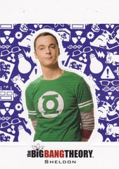 The Big Bang Theory Season 5 Trading Cards Character Standee Insert card CS-02 - Sheldon