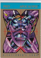1992 Marvel X-Cutioner's Song Stryfe's Strike File Apocalypse Promo card