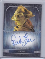 2015 Star Wars Masterwork Phil Eason as Yaddle Autographed card