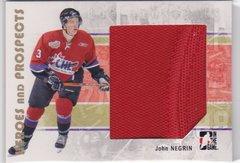 John Negrin 2007-08 Heroes and Prospects Hockey Jersey card #109