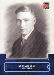 Charles Best 2011 In The Game Canadiana base card #12 Blue parallel PR /50