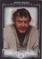 2015 Topps Star Wars Masterwork Base card #36 Owen Lars