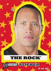 2005 Topps WWE Heritage Wrestling Sticker #2 of 10 The Rock