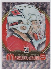 Arturs Irbe 2012-13 Between The Pipes Masked Men 5 Silver card MM-20