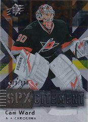Cam Ward 2009-10 SPX Hockey SPXcitement card X47 #d 979/999