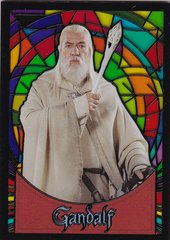 Lord Of The Rings Evolution Stained Glass Insert card S5 Gandalf