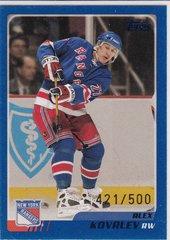 Alex Kovalev 2003-04 Topps Hockey card #50 Blue Parallel #d 421/500