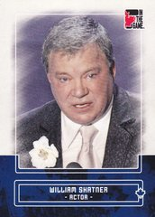 William Shatner 2011 In The Game Canadiana base card #97 Blue parallel PR /50