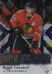 Brian Campbell 2009-10 SPX Hockey SPXcitement card X65 #d 863/999