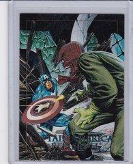 1992 Marvel Masterpieces Captain America Vs Red Skull Spectra Foil Insert card 5-D
