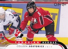 Colleen Sostorics 2009-10 O-Pee-Chee Hockey Canadian Heroes insert card CB-CS