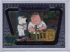 Family Guy Seasons 3,4,5 Quotables Insert card #Q07