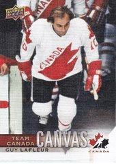 Guy Lafleur 2017-18 UD Canadian Tire Team Canada Canvas card TCC-31