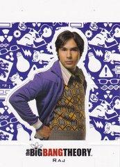 The Big Bang Theory Season 5 Trading Cards Character Standee Insert card CS-04 - Raj
