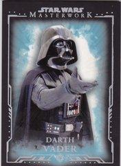 2015 Topps Star Wars Masterwork Blue Parallel Base card #1 Darth Vader