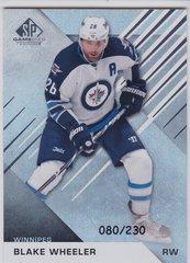 Blake Wheeler 2016-17 SP Game Used card 29 Rainbow Player Age 080/230