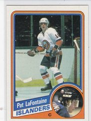 Pat Lafontaine 1984-85 Topps Hockey Rookie card #96