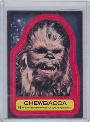 1977 Topps Star Wars Series 2 Sticker #16 Chewbacca
