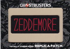 Ghostbusters Totally Fabricated Replica Patch card H4 Zeddemore