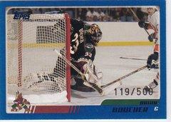 Brian Boucher 2003-04 Topps Hockey card #33 Blue Parallel #d 119/500