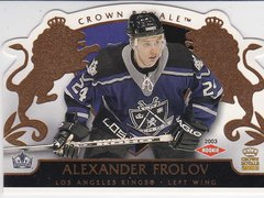 Alexander Frolov 2002-03 Crown Royale Hockey Rookie card #118 #d 1025/2299