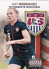 Amy Rodriguez 2012 Americana Heroes & Legends Women's Soccer Insert card #5