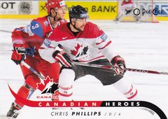 Chris Phillips 2009-10 O-Pee-Chee Hockey Canadian Heroes insert card CB-CP