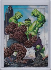 1992 Marvel Masterpieces Thing Vs Hulk Spectra Foil Insert card 1-D