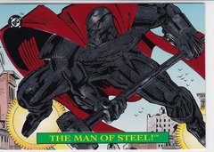 1993 DC Bloodlines Embossed Insert card S1 The Man Of Steel