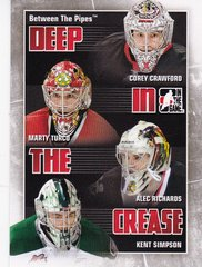 2010-11 Between The Pipes Deep In The Crease card DC-07 Chicago