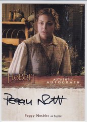 The Hobbit Desolation Of Smaug Peggy Nesbitt as Segrid Autograph card PN