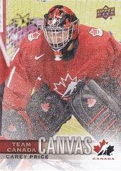 Carey Price 2017-18 UD Canadian Tire Team Canada Canvas card TCC-17