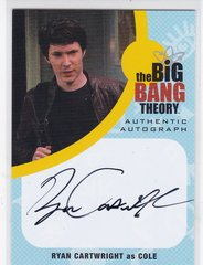The Big Bang Theory Seasons 6 & 7 Ryan Cartwright as Cole Autograph card RC1