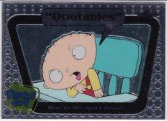 Family Guy Seasons 3,4,5 Quotables Insert card #Q09