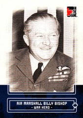 Air Marshall Billy Bishop 2011 In The Game Canadiana base card #2 Blue parallel PR /50