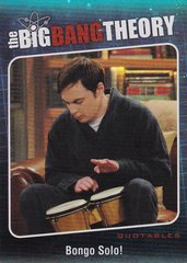 The Big Bang Theory Season 5 Trading Cards Quotables Insert card QTB-01
