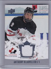 Anthony Beauvillier 2015-16 Team Canada Juniors Jersey card #125