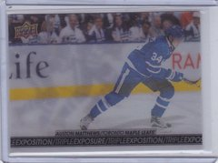 Auston Matthews 2017-18 Tim Hortons Triple Exposure card TE-5