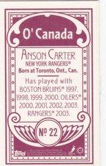 Anson Carter 2003-04 Topps C55 Mini card #22 O'Canada Red Back