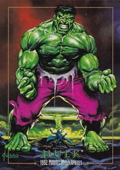 1992 Marvel Masterpieces Hulk Promo card