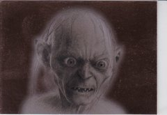 Lord Of The Rings Masterpieces 2 Bronze Parallel Foil Art Insert card 8 of 9 Gollum