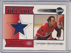 Guy Lafleur 2001-02 Upper Deck Vintage Hockey Stars Of The Decade Jersey card SD-GL