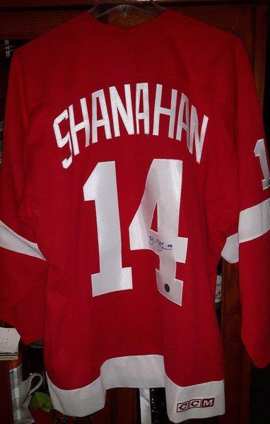 Brendan Shanahan Autographed Detroit Red Wings NHL Vintage CCM Jersey Mens XL