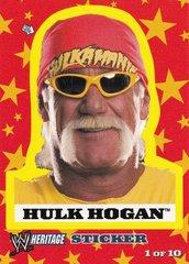 2005 Topps WWE Heritage Wrestling Sticker #1 of 10 Hulk Hogan