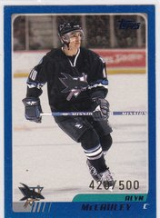 Alyn McCauley 2003-04 Topps Hockey card #13 Blue Parallel #d 420/500