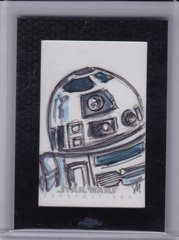 Star Wars Chrome Perspectives Sian Mandrake Sketch card R2-D2