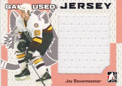Jay Bouwmeester 2006-07 Heroes and Prospects Jersey card GUJ-60