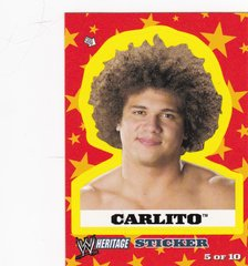 2005 Topps WWE Heritage Wrestling Sticker #5 of 10 Carlito